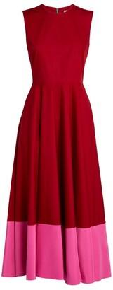 Roksanda Athena Two-Tone Midi Dress