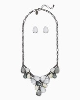 Charming charlie Shimmer All Statement Necklace Set Only 1 left Name Qty Shimmer All Statement Necklace Set 1 // Only 1 left in White! Regular Price: $14.00 Special Price $8.40