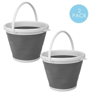 Online 10 LT Collapsible Plastic Bucket, Grey
