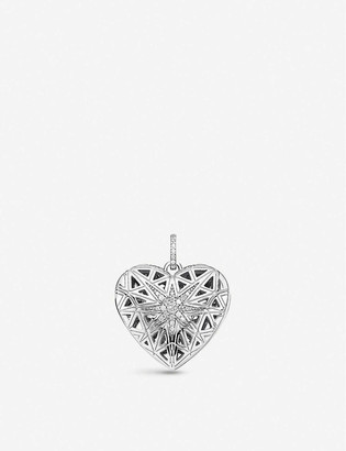 Thomas Sabo Heart Medallion gold-plated, sterling silver and zirconia locket pendant