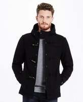 Mens Black Duffle Coat - ShopStyle