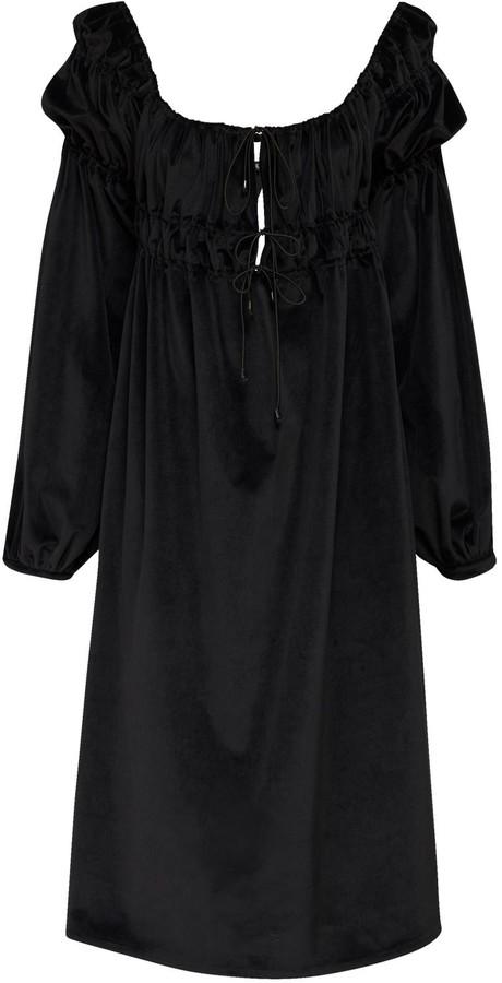 ÀCHEVAL PAMPA Antonia Velvet Midi Dress