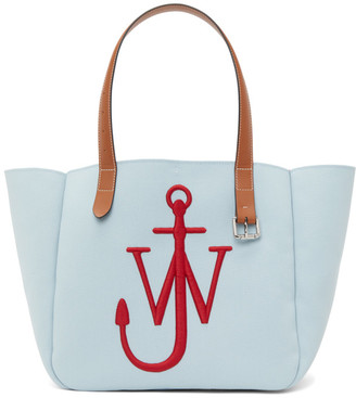 J.W.Anderson Blue and Red Recycled Canvas Belt Tote