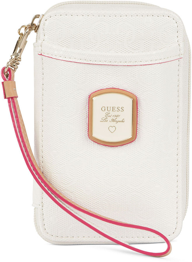 GUESS Handbag, Frosted Phone Wristlet