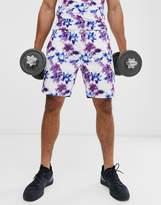 Hiit HIIT paint splash graphic shorts in purple