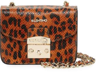 Mario Valentino Valentino By Bijou Leopard-Print Leather Crossbody Bag