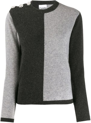 Ganni Colour-Block Jumper