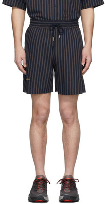 Han Kjobenhavn Navy Striped Track Shorts