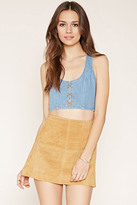 Forever 21 Denim Racerback Crop Top