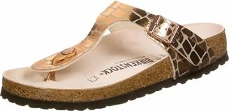 Birkenstock Tongs Gizeh Microfibre Gator Gleam Copper Womens Sandal