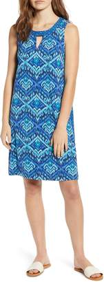 Tommy Bahama Imali Ikat Keyhole Sleeveless Shift Dress
