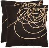 Safavieh Coiled Darter 2-piece Throw Pillow Set