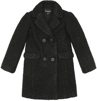 Emporio Armani Kids Double-breasted teddy coat
