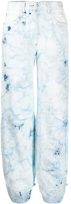 Off-White Bleached Tapered Jeans