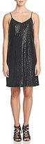 1 STATE V-Neck Sleeveless Sequin Slip Dress