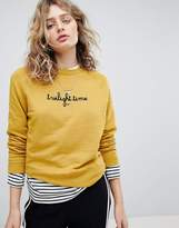 Maison Scotch Crew Neck Relaxed Fit Sweatshirt