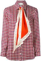 Gucci scarf-neck blouse