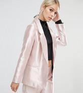 Asos Ultimate Pink Metallic Blazer
