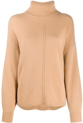 N.Peal Exposed Seam Roll-Neck Jumper