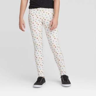 Cat & Jack Girls' Polka Dot Leggings - Cat & JackTM Cream