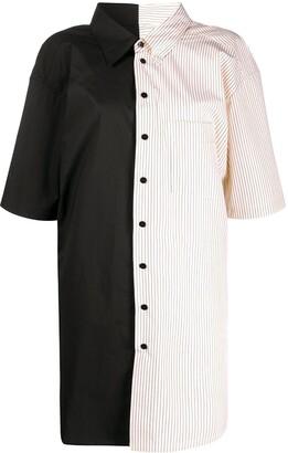 MM6 MAISON MARGIELA Colour Block Stripe Shirt Dress