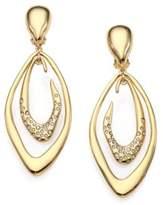 Alexis Bittar Swarovski Crystal Liquid Marquis Clip-On Drop Earrings