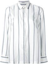 Brunello Cucinelli striped shirt - women - Silk - M