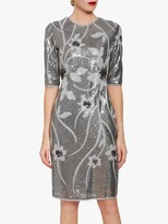 Thumbnail for your product : Gina Bacconi Joetta Sequin Dress, Silver