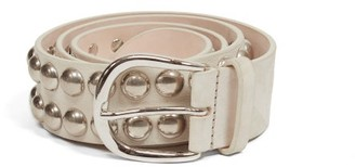 Isabel Marant Zaf Studded Leather Belt - White Multi