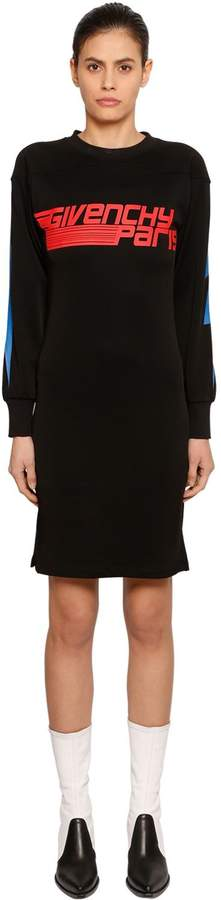 Givenchy Printed Cotton Blend Sweatshirt Dress