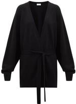 Raey Shawl Belted Cashmere Cardigan - Womens - Black