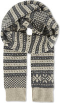 Dries Van Noten Knitted Fair Isle Woollen Scarf