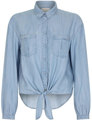 Nooki Design Patti Tie Front Shirt- Tencel Denim