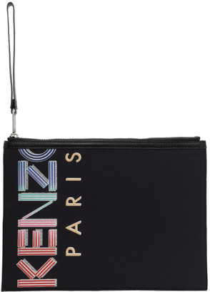 Kenzo Black Large Crew Pouch