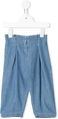 Bonpoint Pleated Detail Denim Trousers