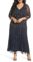 Pisarro Nights Plus Size Women's Beaded V-Neck Gown & Jacket
