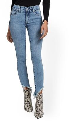 New York & Co. Mya Curvy High-Waisted Sculpting No Gap Super-Skinny Ankle Jeans - Ripped-Hem