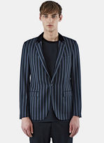Lanvin D8 Slimfit Jacket With Contrast Collar In Blue