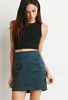 Forever 21 FOREVER 21+ Contemporary Metallic Brocade Mini Skirt