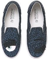 Chiara Ferragni 30mm Flirting Glitter Slip-On Sneakers