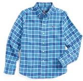 Vineyard Vines Toddler Boy's Plaskett Creek Plaid Flannel Shirt