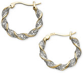 Townsend Victoria 18k Gold over Sterling Silver Earrings, Diamond Accent Twist Hoop