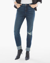 Chico's Frayed-Cuff Girlfriend Ankle Jeans