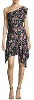 Isabel Marant Rose Fil Coupe One-Shoulder Minidress