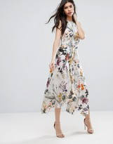 Talulah Into You Floral Flare Midi Dress