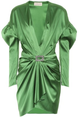Alexandre Vauthier Stretch silk-satin dress