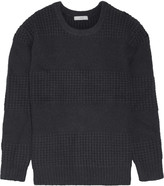 IRO Smilin waffle-knit paneled wool-blend sweater