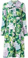 Dolce & Gabbana hydrangea coat - women - Silk/Viscose - 42