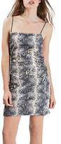 Topshop Snake Pattern Sequin Minidress (Petite)