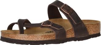 Birkenstock MAYARI Greased leather Women's Flip Flops